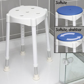 Duschhocker Komfort mit Drehsitz