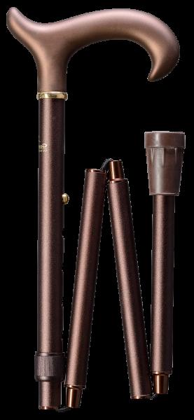 Deluxe-Schlank-Faltstock Softgriff bronze